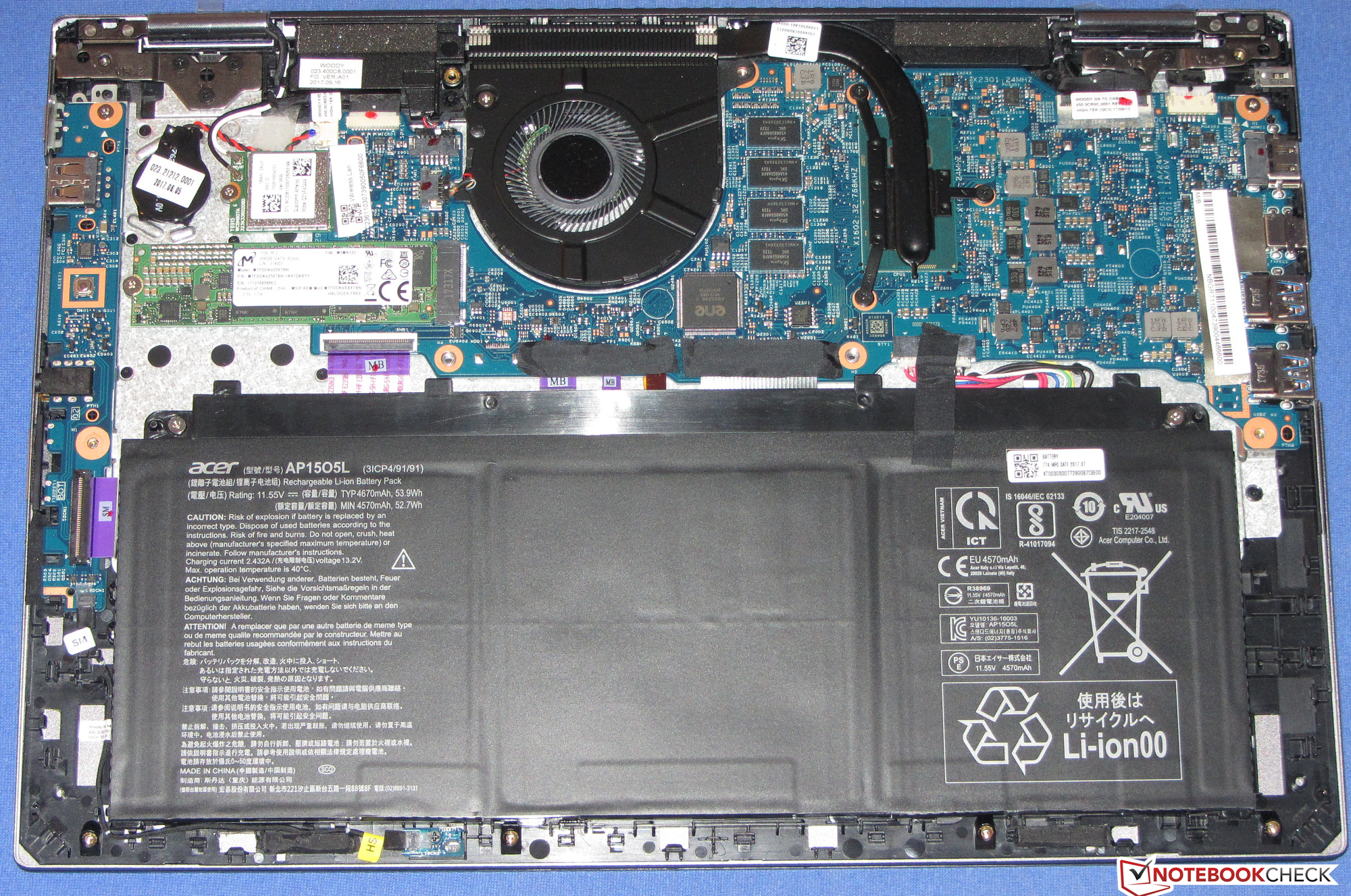 Test Acer Spin 5 Sp513 52n 54sf I5 8250u Fhd