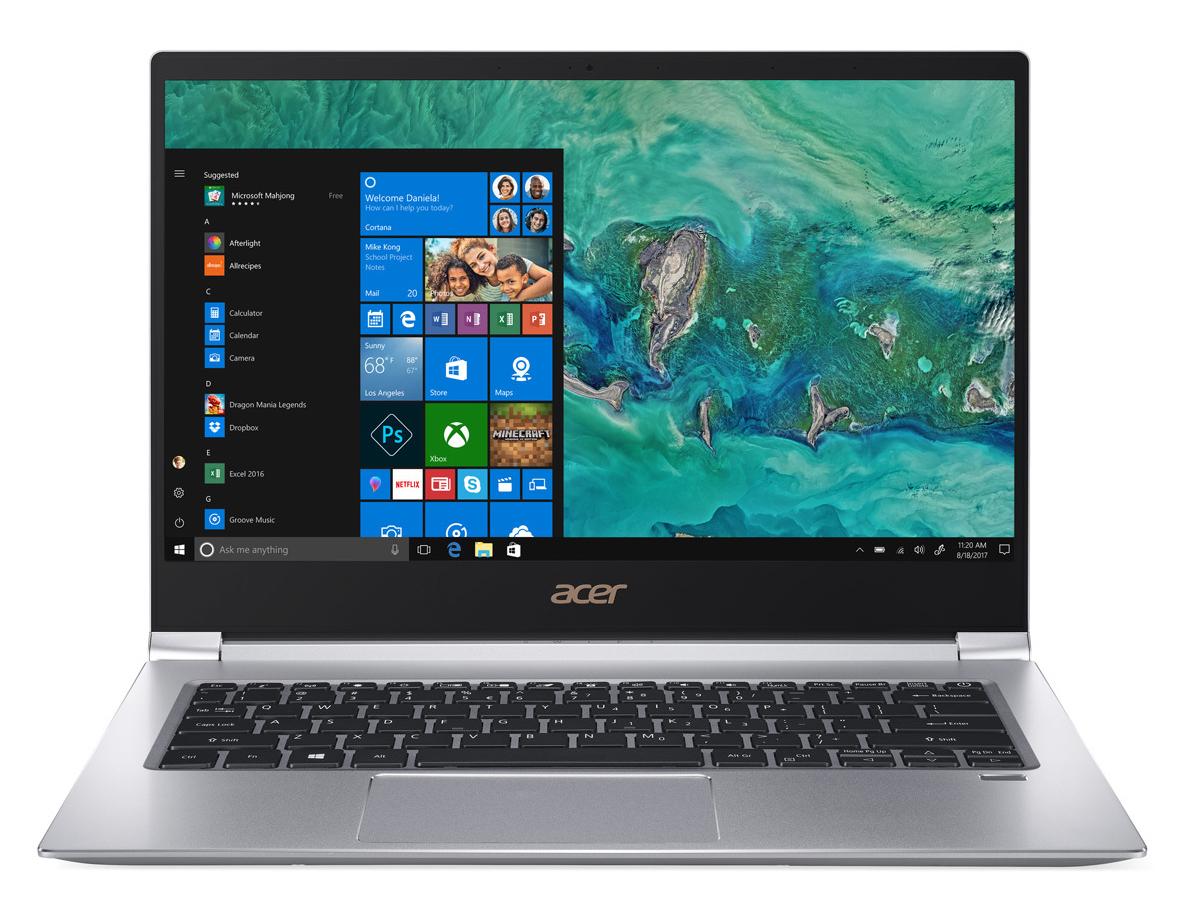 Test Acer Swift 3 SF314 (i7-8565U, MX250) Laptop - Notebookcheck.com Tests
