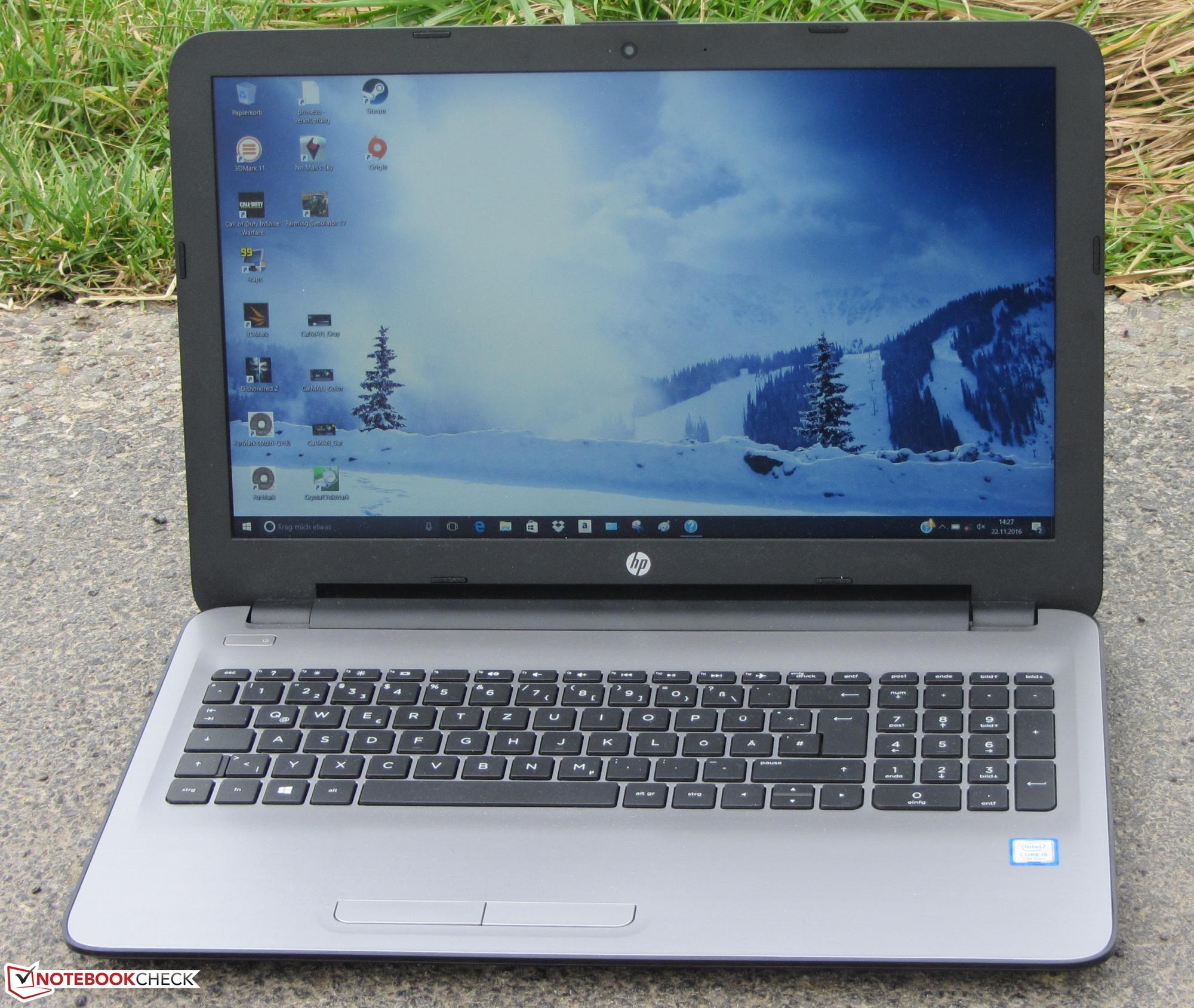Test HP 15-ay116ng Laptop - Notebookcheck.com Tests