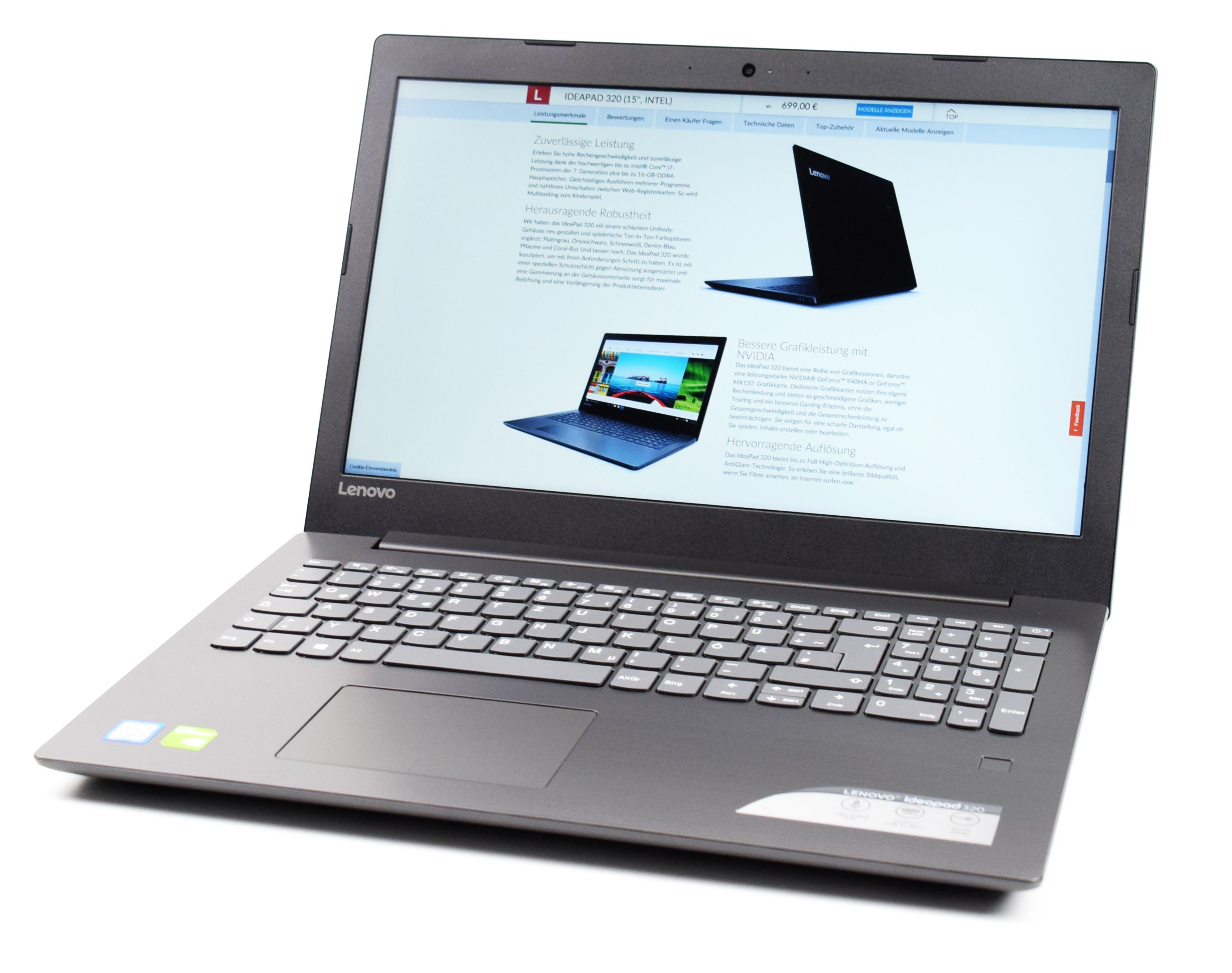Test Lenovo Ideapad 320 15ikbrn 8250u Mx150 Fhd Laptop