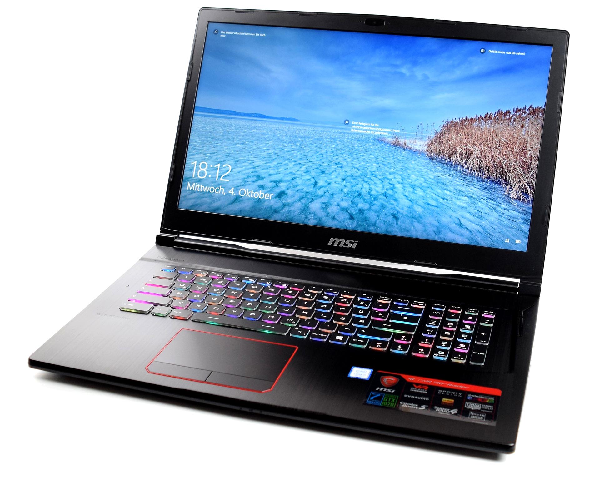 Test MSI GE73VR 7RF Raider (i7-7700HQ, GTX 1070, Full-HD) Laptop ...