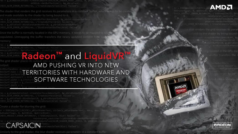 AMD Capsaicin: Dual-Fiji-GPUs, Polaris, Vega, Navi und VR ...