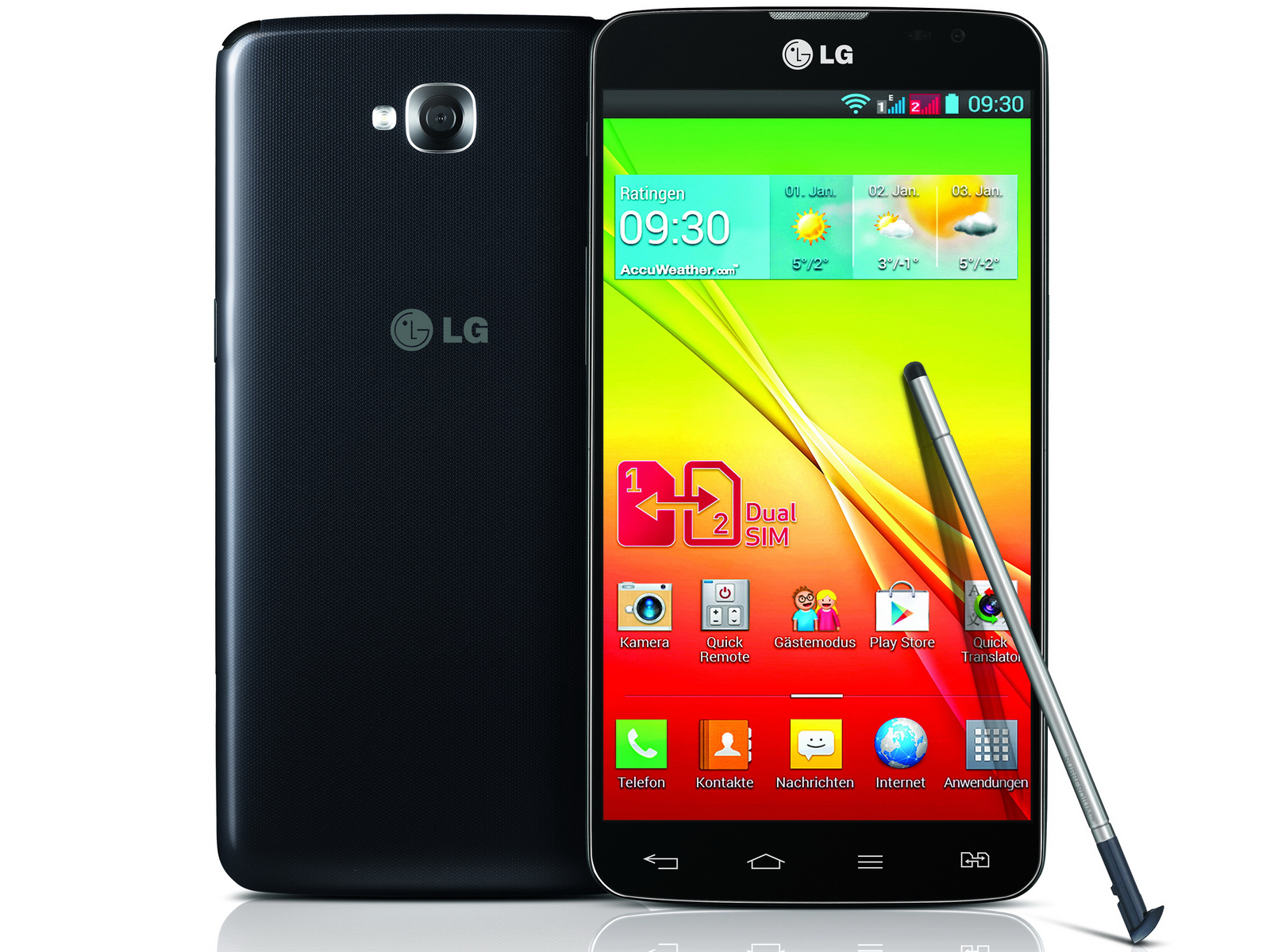lg 5 5 zoll smartphone lg g pro lite dual auch in. Black Bedroom Furniture Sets. Home Design Ideas