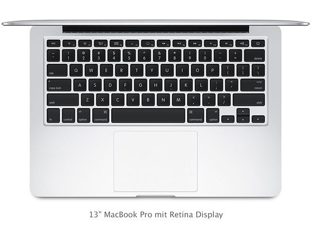 Apple Macbook Pro Mit Retina Display Erh 228 Lt Haswell