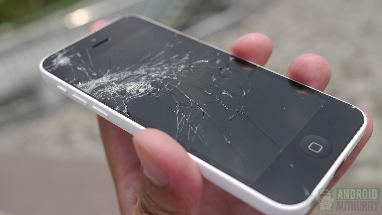 Cracked Back Of Iphone