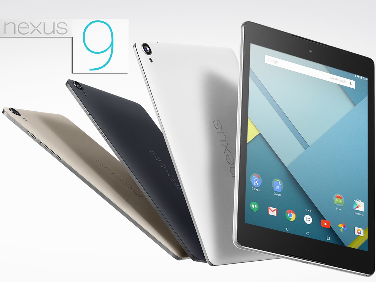 google nexus 9 8 9 zoll tablet mit tegra k1 und android 5. Black Bedroom Furniture Sets. Home Design Ideas