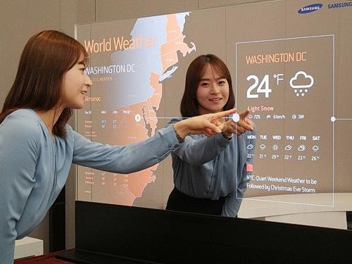 Samsung Spiegel Displays Und Transparente Oled Displays
