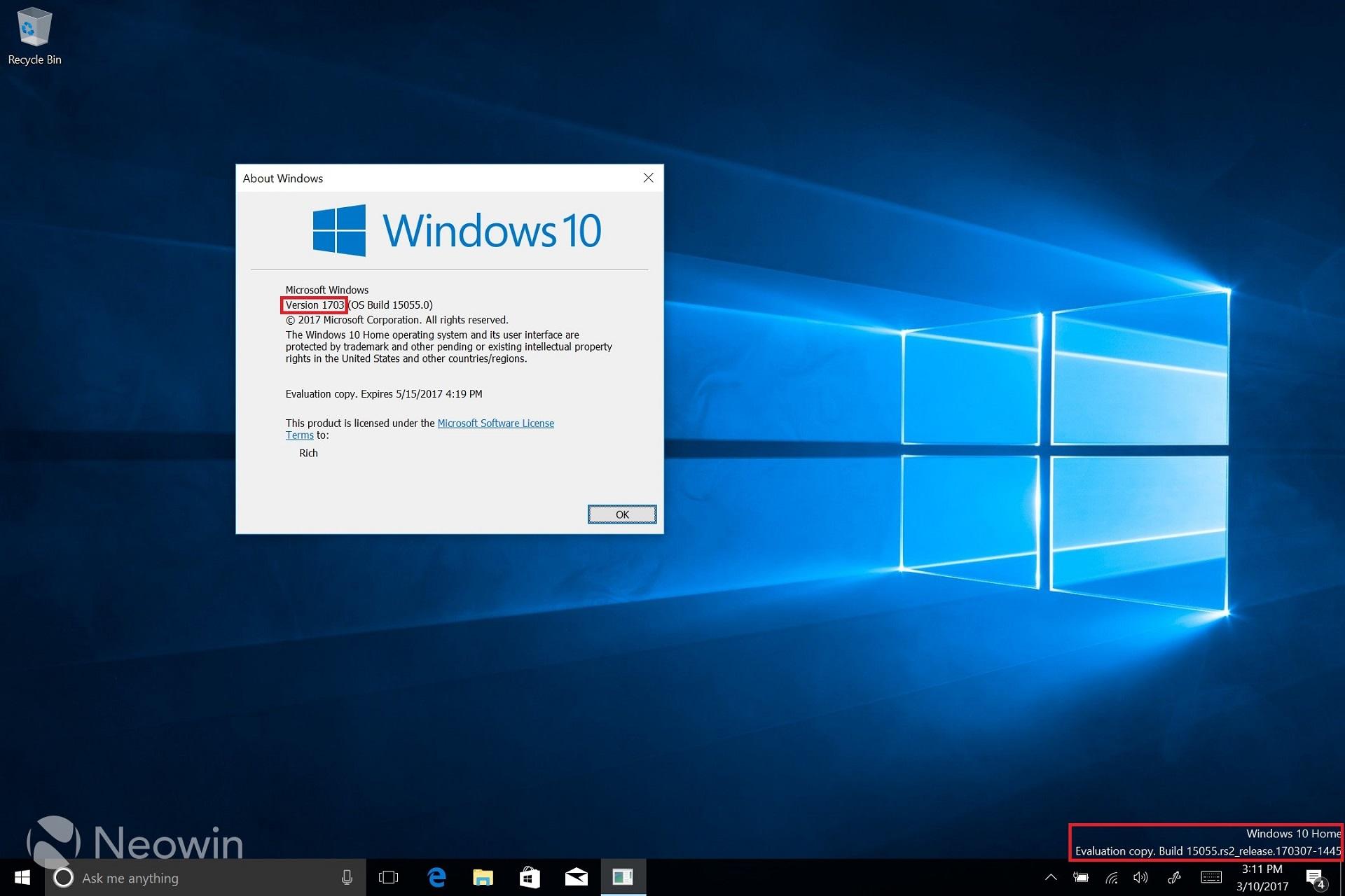 Windows 10 1703 Download