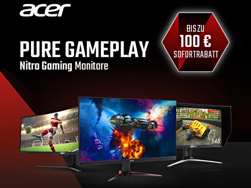 acer bis zu 100 euro rabatt f r nitro gaming monitore. Black Bedroom Furniture Sets. Home Design Ideas