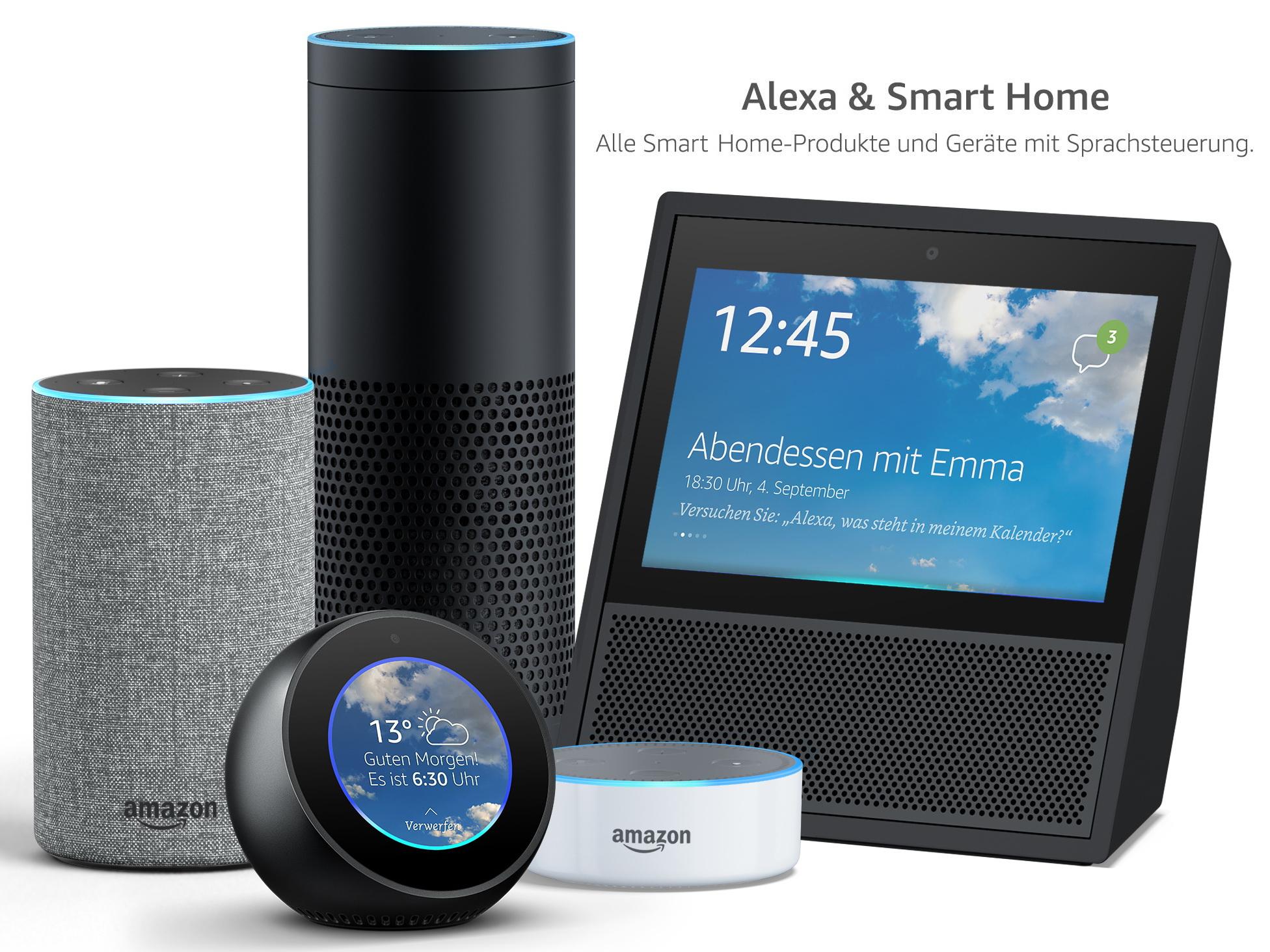 amazon smart home shop zentrale anlaufstelle f r echo und alexa kompatible ger te. Black Bedroom Furniture Sets. Home Design Ideas