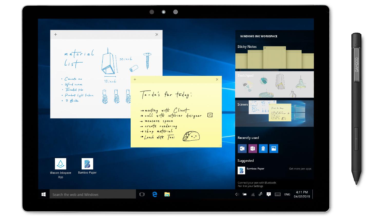 Wacom-Bamboo-Ink-Plus-Neue-Stifte-f-r-Windows-10-PCs