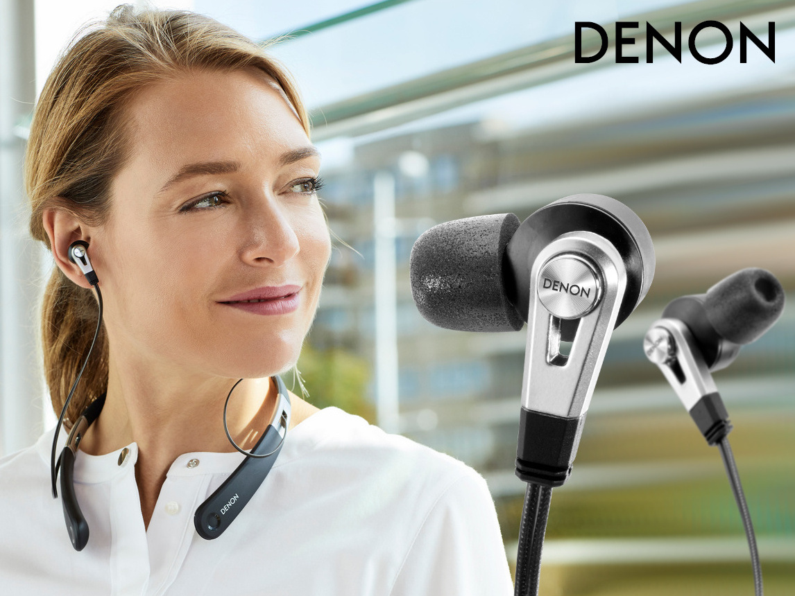 denon ah c820w kabellose nackenb gel in ear kopfh rer. Black Bedroom Furniture Sets. Home Design Ideas