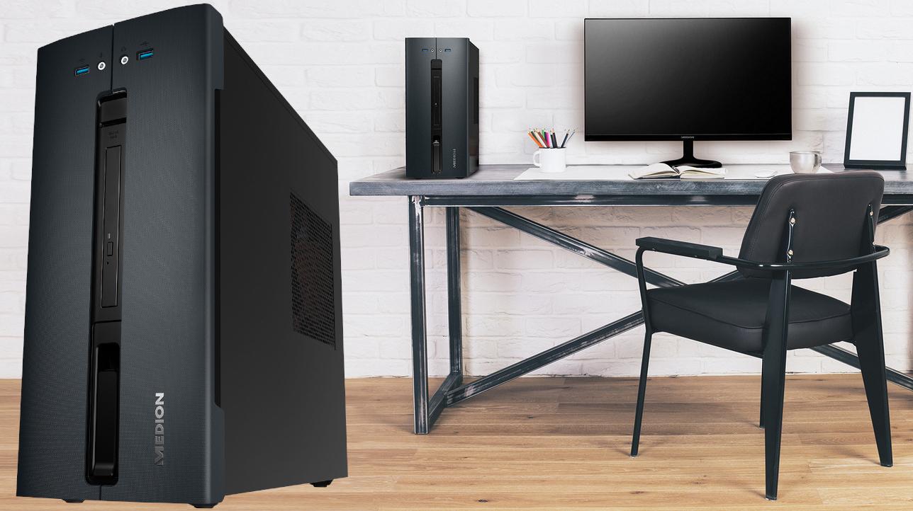 aldi medion akoya p32010 pc mit amd ryzen 5 2400g f r 500. Black Bedroom Furniture Sets. Home Design Ideas