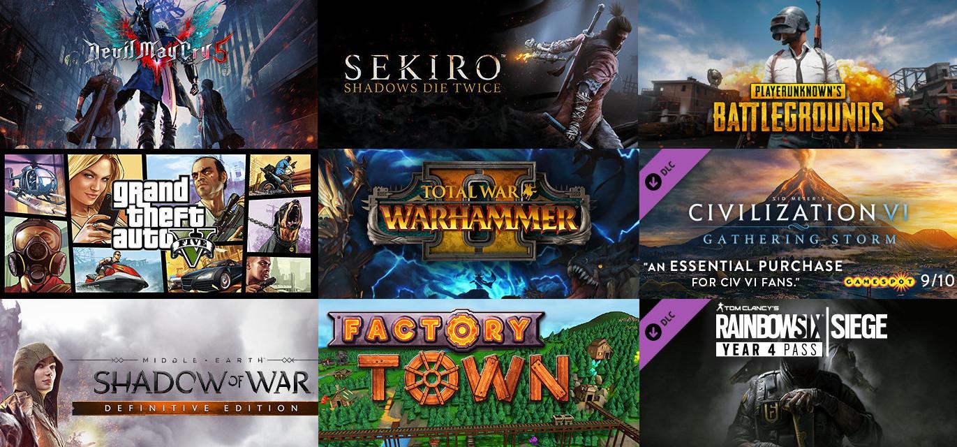Steam Charts Devil May Cry 5 Vor Sekiro Shadows Twice Und Pubg