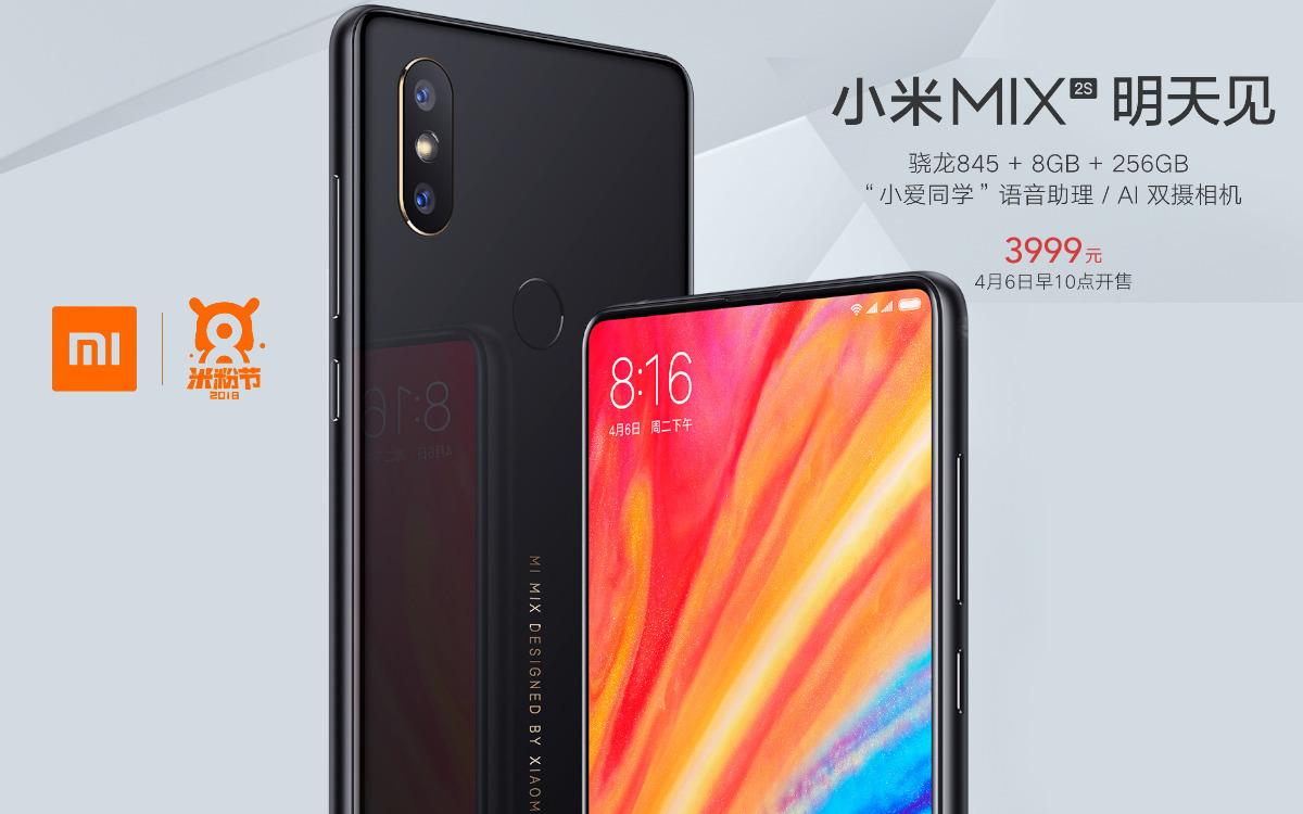 Xiaomi Mi Mix 2S: Verkauf der zweiten Charge morgen am 6 ...