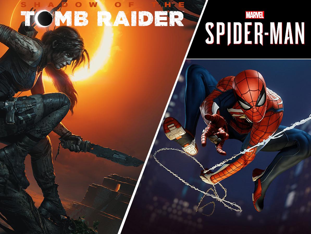 spiele charts: lara croft dominiert xbox one und pc, spider-man die