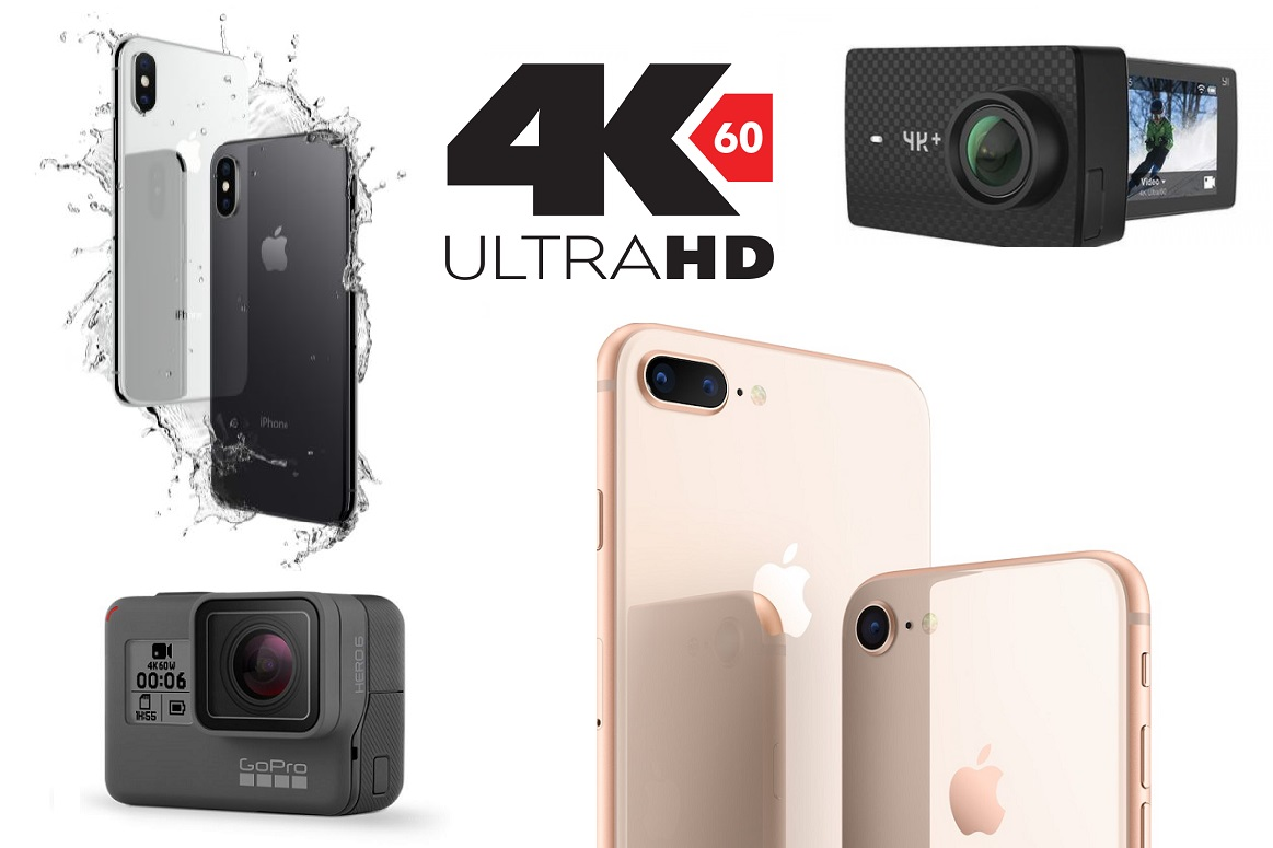 Der Kampf 4K60 Giganten Apple IPhone 8 Plus Vs GoPro Hero 6 Black