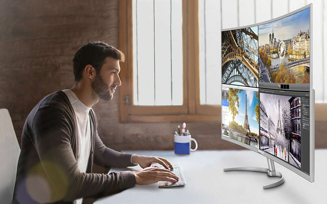 Philips Brilliance BDM4037UW: 4K/Ultra-HD-Curved-Monitor mit 40 Zoll ...