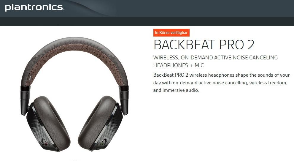 plantronics backbeat pro 2 bluetooth headset mit anc. Black Bedroom Furniture Sets. Home Design Ideas