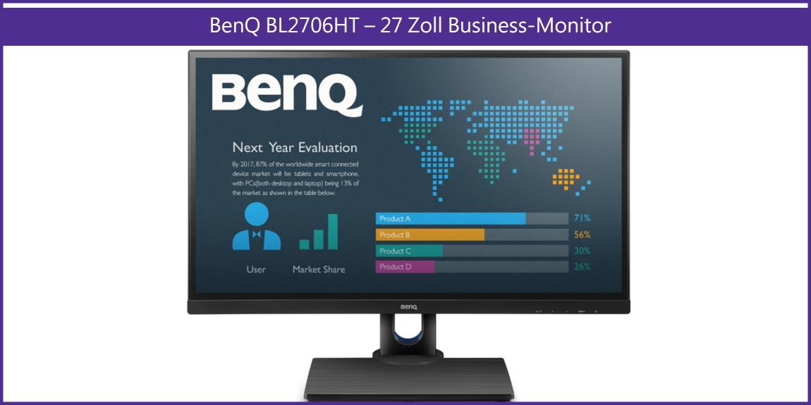 BenQ: CeBIT-Präsentation des Modells BL2706HT