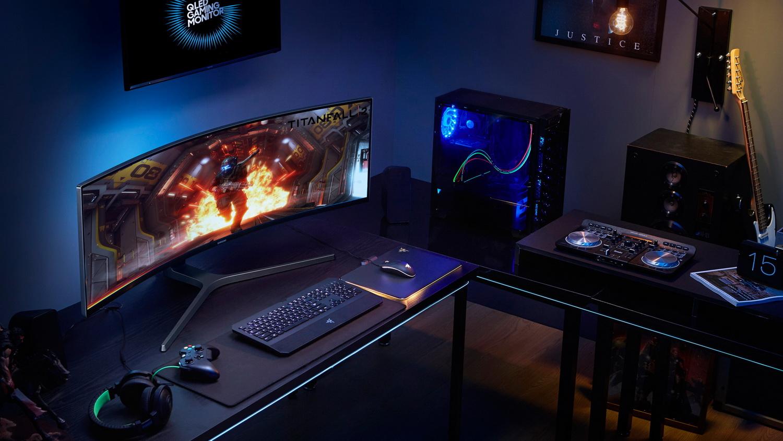 gamescom 2017 irre samsung zeigt gr ten gaming monitor chg90 news. Black Bedroom Furniture Sets. Home Design Ideas