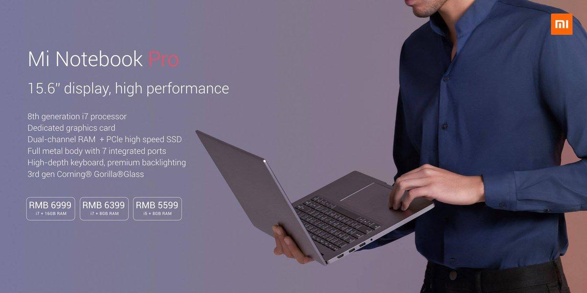 Xiaomi 15 Zoll Mi Notebook Pro Mit Quad Core Cpu