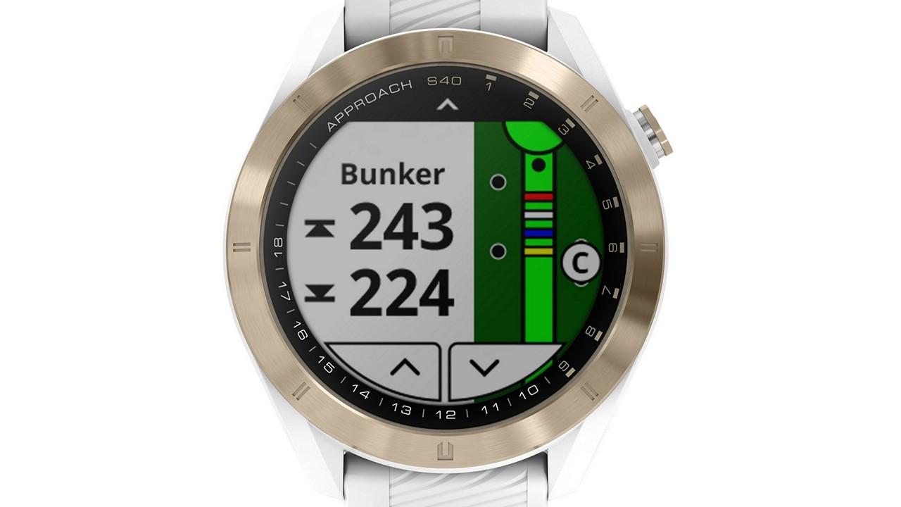 garmin approach s40 smartwatch golfuhr ab 270 euro. Black Bedroom Furniture Sets. Home Design Ideas
