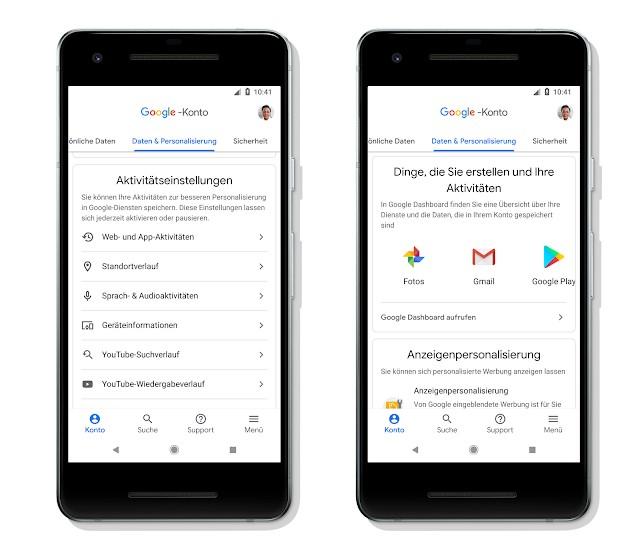 Google Konto Standard