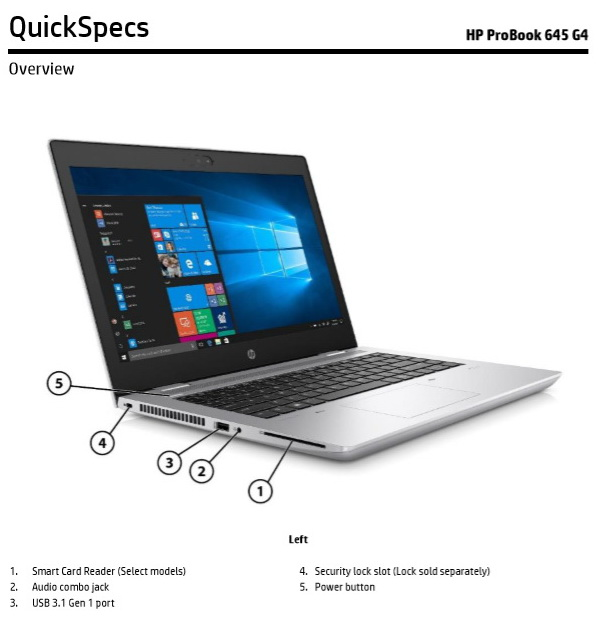 hp elitebook 1040 g5 quickspecs