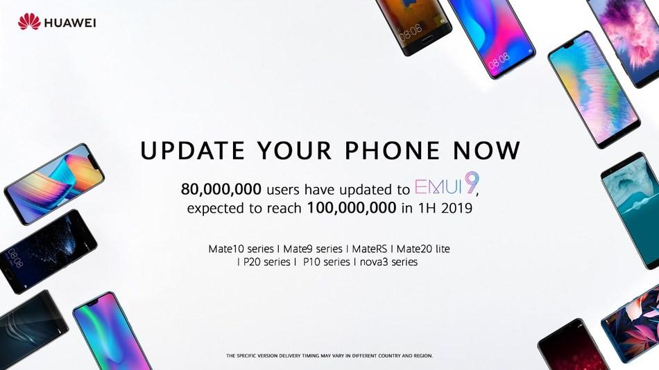 Android 9 Pie Huawei rollt EMUI 9 auf 100 Millionen Smartphones aus
