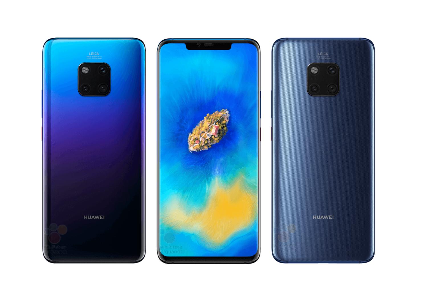 Huawei Mate 20 Pro Twilight Farbe, Triple Cam mit Weitwinkel ...