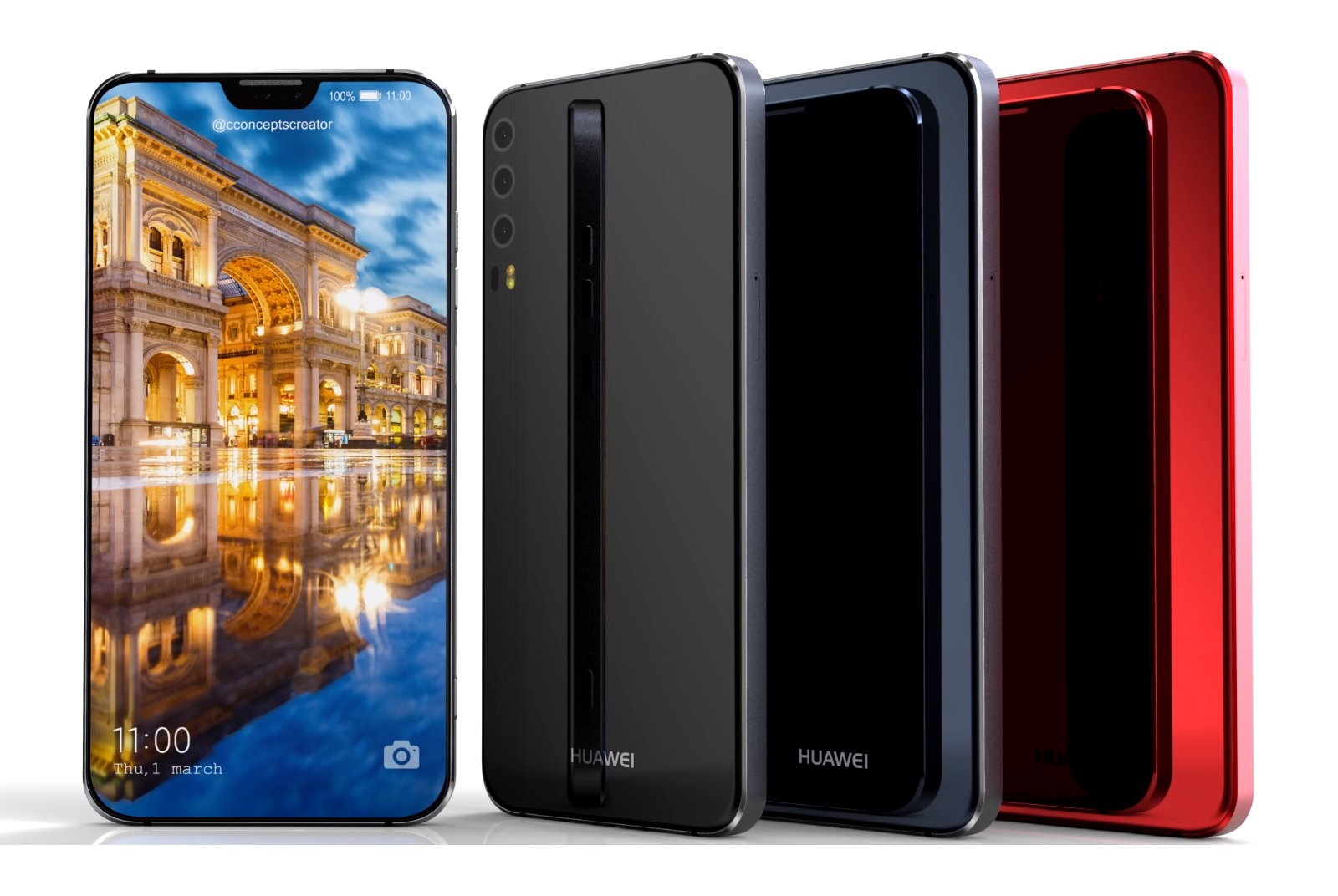 huawei p11 konzept video zeigt randloses notch design mit. Black Bedroom Furniture Sets. Home Design Ideas