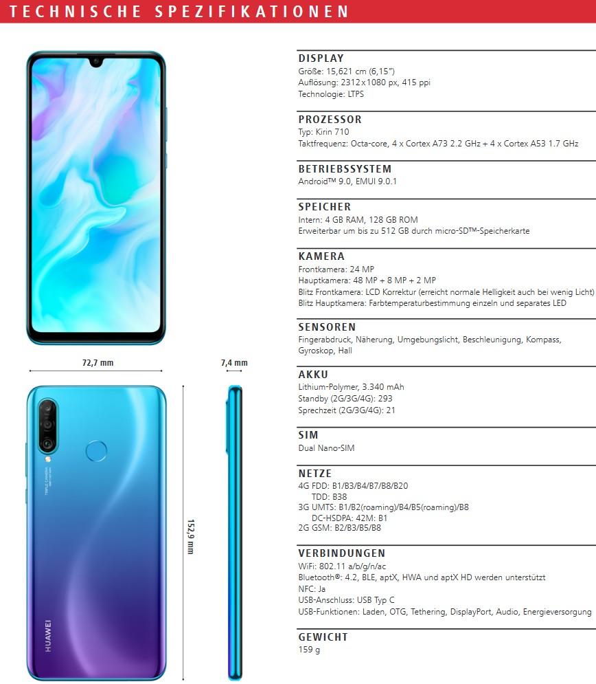Huawei P30 Pro Datenblatt