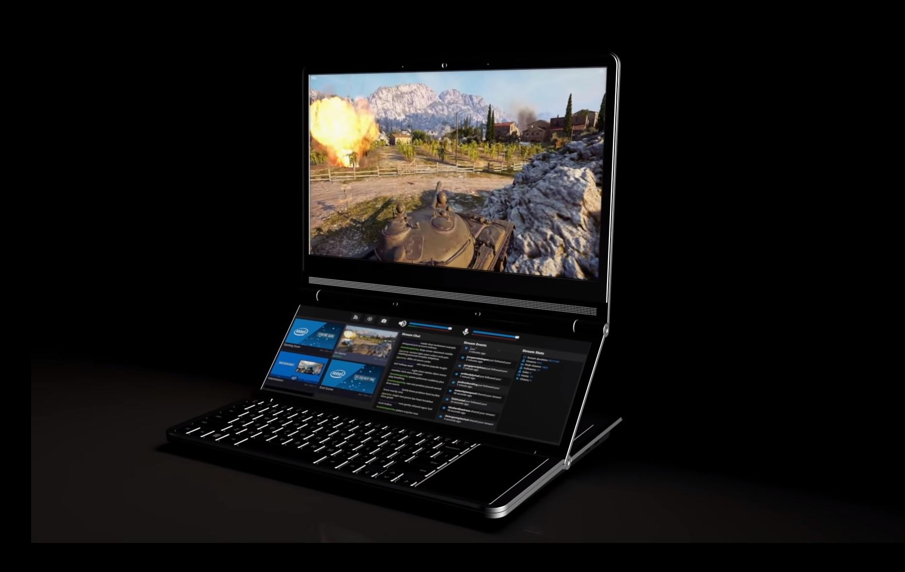 Intel zeigt noch cooleres Dual-Display-Laptop-Design als Asus