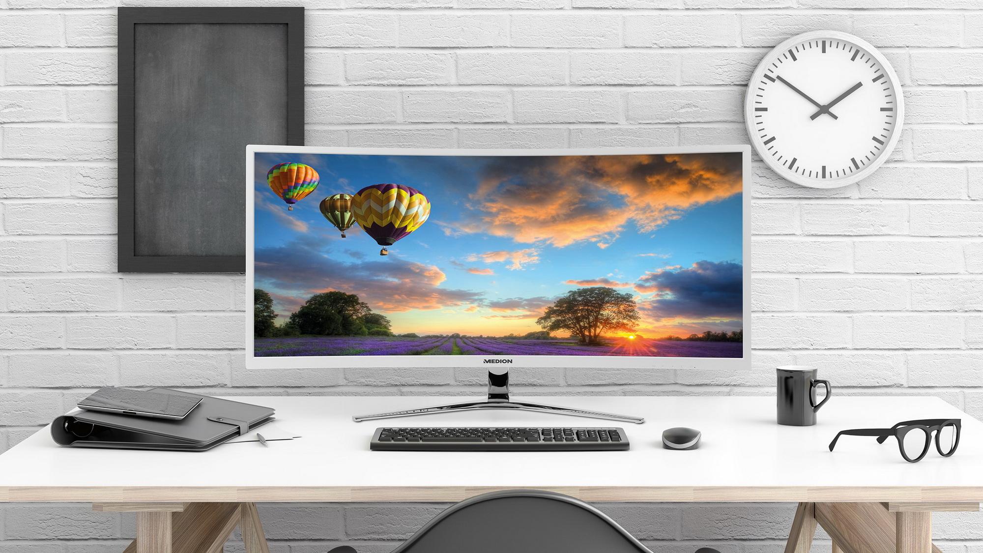 medion akoya x58434 34 curved ultra widescreen monitor erh ltlich news. Black Bedroom Furniture Sets. Home Design Ideas