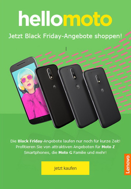 moto black friday und cyber monday angebote und specials. Black Bedroom Furniture Sets. Home Design Ideas