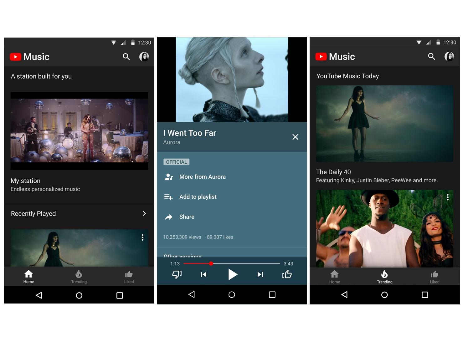 youtube music update speichern von songs alben zum offline h ren news. Black Bedroom Furniture Sets. Home Design Ideas