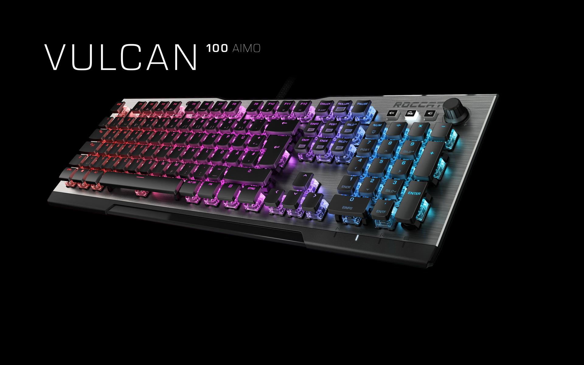 roccat vulcan schlanke und stylische gamingtastatur mit