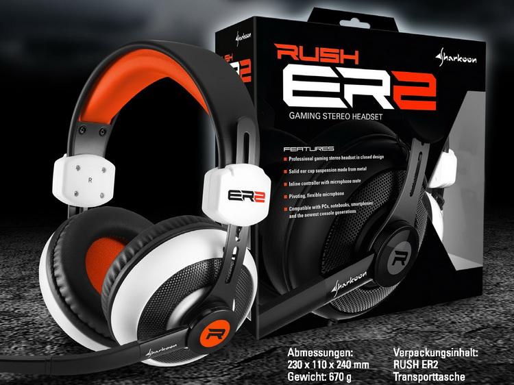 Rush ER2 Stereo Gaming Headset gr/ün