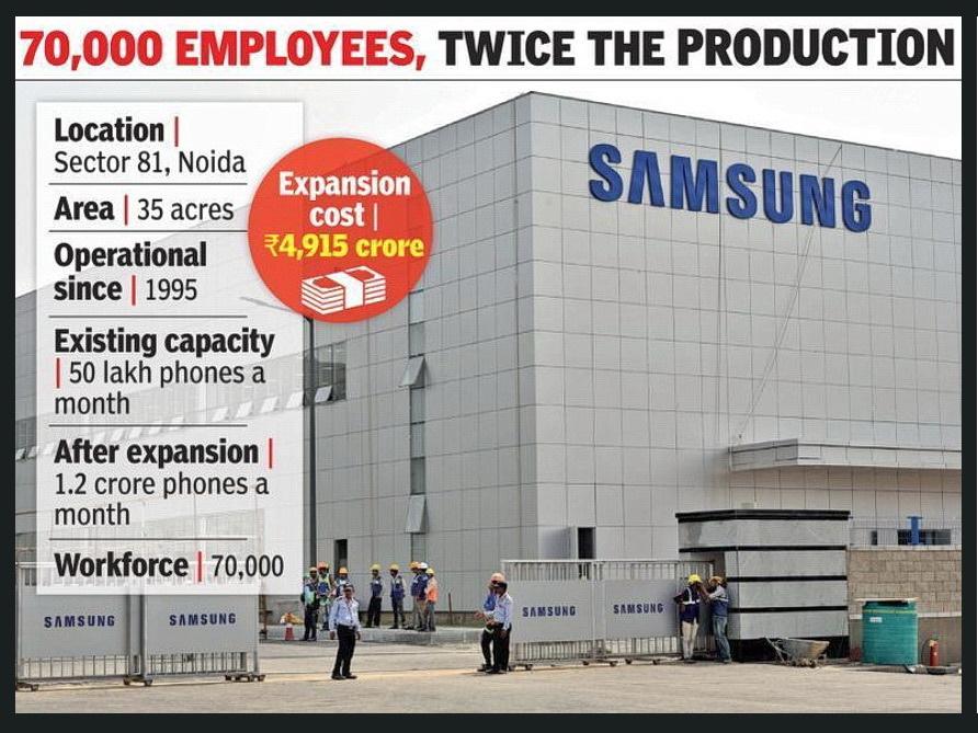 Samsung eröffnete weltgrößte Handyfabrik in Indien