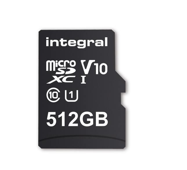 Integral präsentiert erste microSD-Karte mit 512 GB