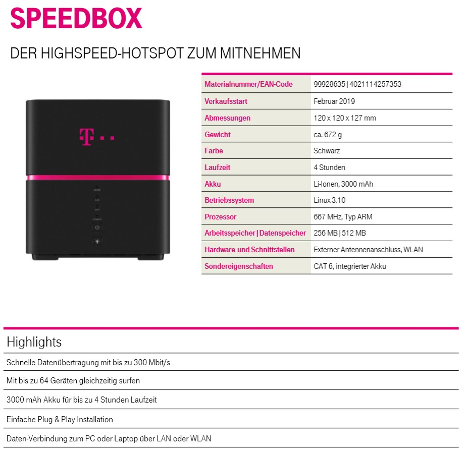 telekom speedbox wlan hotspot zum mitnehmen ab 40 euro. Black Bedroom Furniture Sets. Home Design Ideas