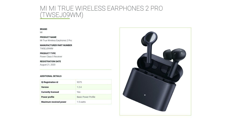 Ein Wpc Eintrag Enthullt Das Premium Design Der Xiaomi Mi True Wireless Earphones 2 Pro Notebookcheck Com News