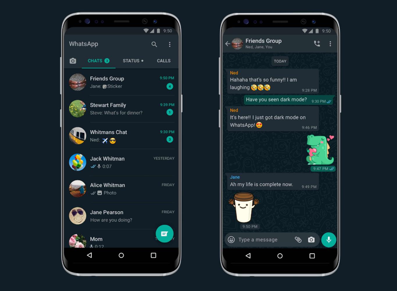 WhatsApp präsentiert seinen Dark Mode mit einem nur allzu ...