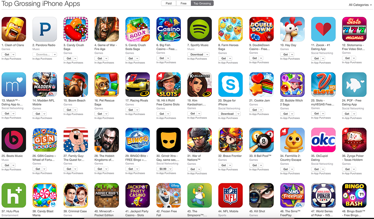 apple top apps