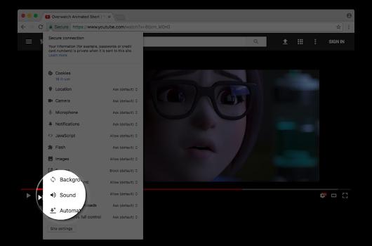 Google Chrome lässt Websites komplett stummschalten