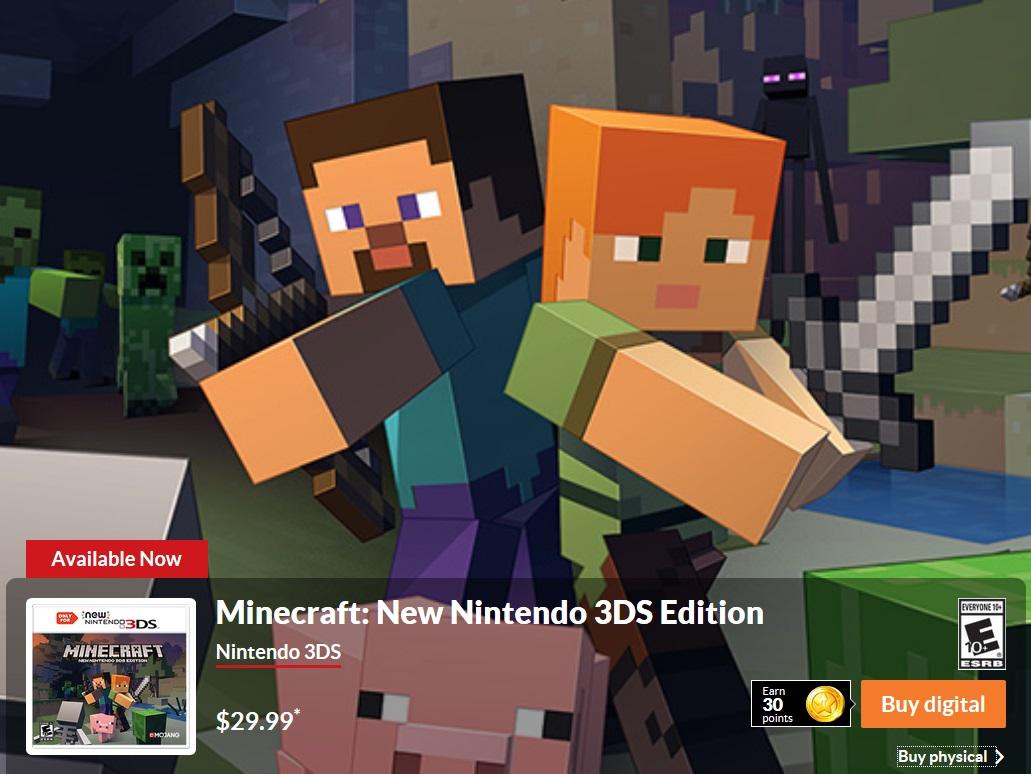 Minecraft Jetzt Verfügbar Für Den Neuen Nintendo DS - Minecraft zum spielen jetzt