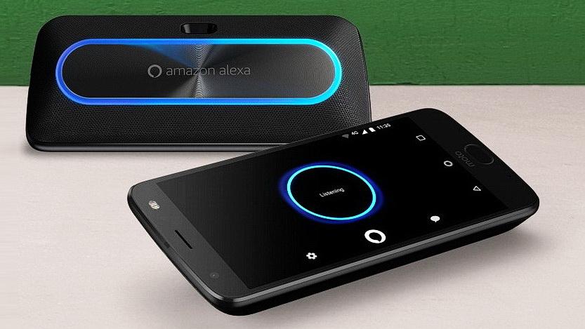 moto smart speaker smarter lautsprecher mit alexa. Black Bedroom Furniture Sets. Home Design Ideas