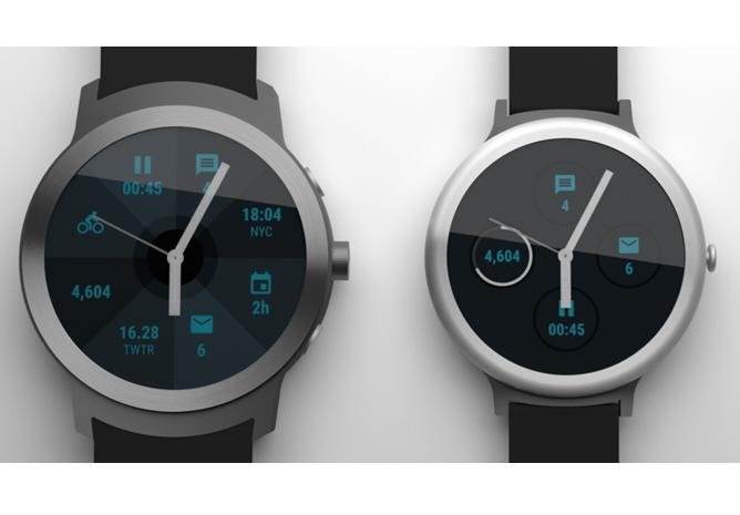 Google: Renderbilder der Android Wear-Smartwatches ...