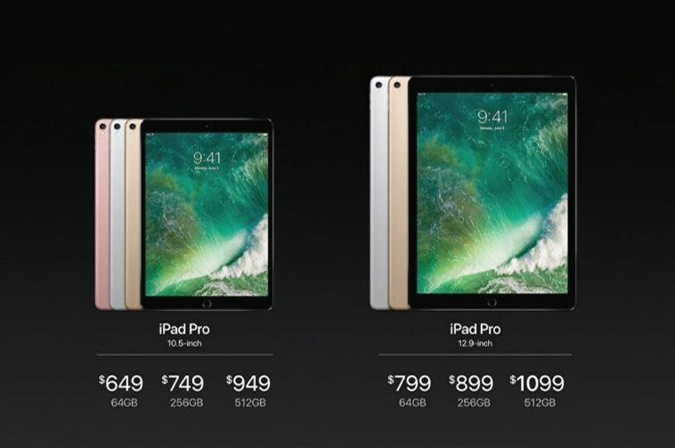 apple neue 10 5 und 12 9 zoll ipad pro modelle mit 120 hz. Black Bedroom Furniture Sets. Home Design Ideas